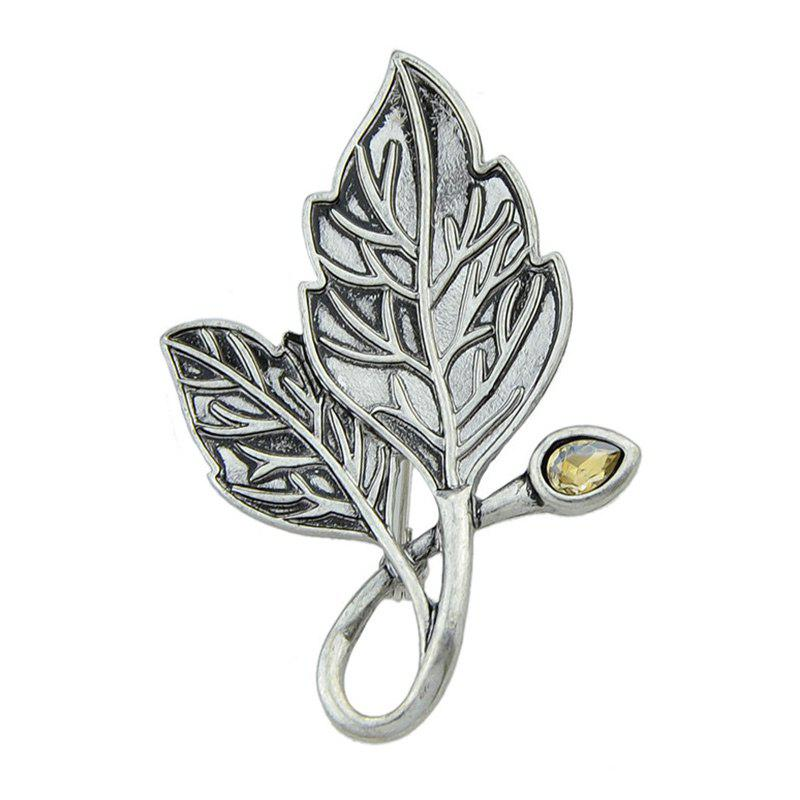 Cheap Vintage Faux Gem Tree Leaf Teardrop Brooch