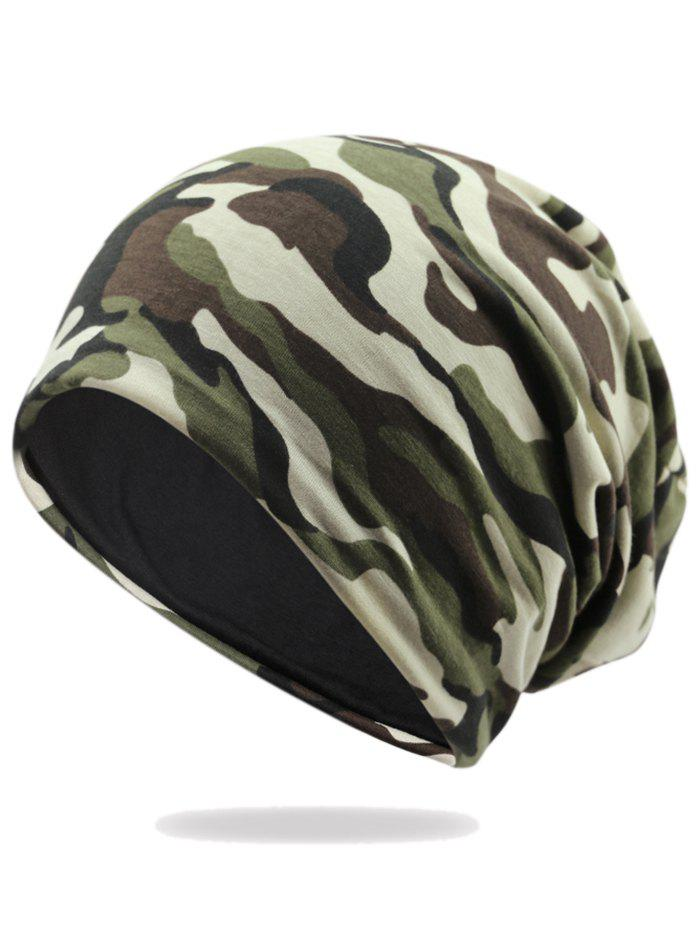 Fashion Outdoor Camouflage Pattern Embellished Slouchy Beanie