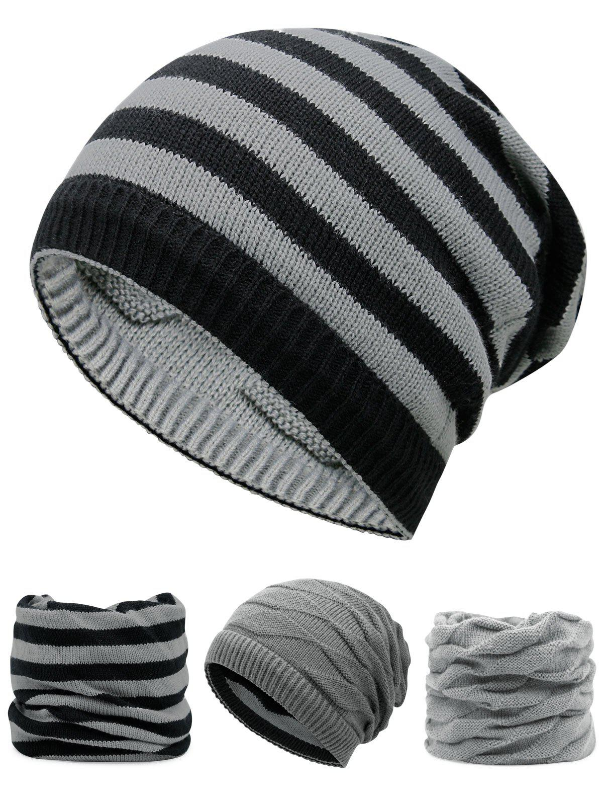Outdoor Ponytail Hole Embellished Reversible Knit Beanie HatACCESSORIES<br><br>Color: LIGHT GREY; Hat Type: Skullies Beanie; Group: Adult; Gender: For Men; Style: Fashion; Pattern Type: Others; Material: Acrylic; Weight: 0.1200kg; Package Contents: 1 x Hat;