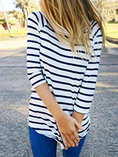 Outfit Striped Tunic Tee with Sleeves