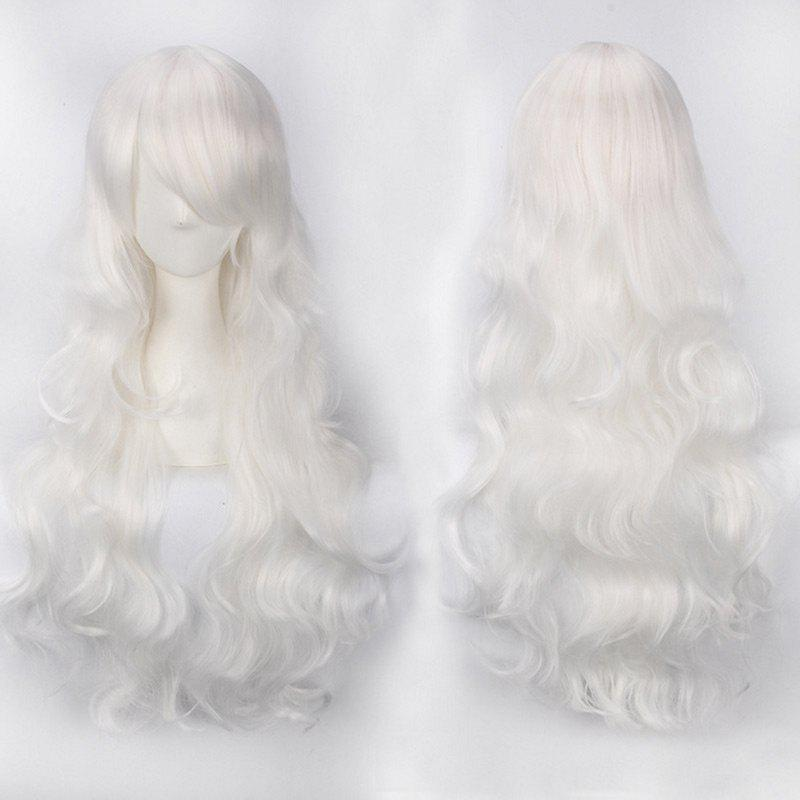 Store Ultra Long Side Bang Fluffy Curly Synthetic Party Wig