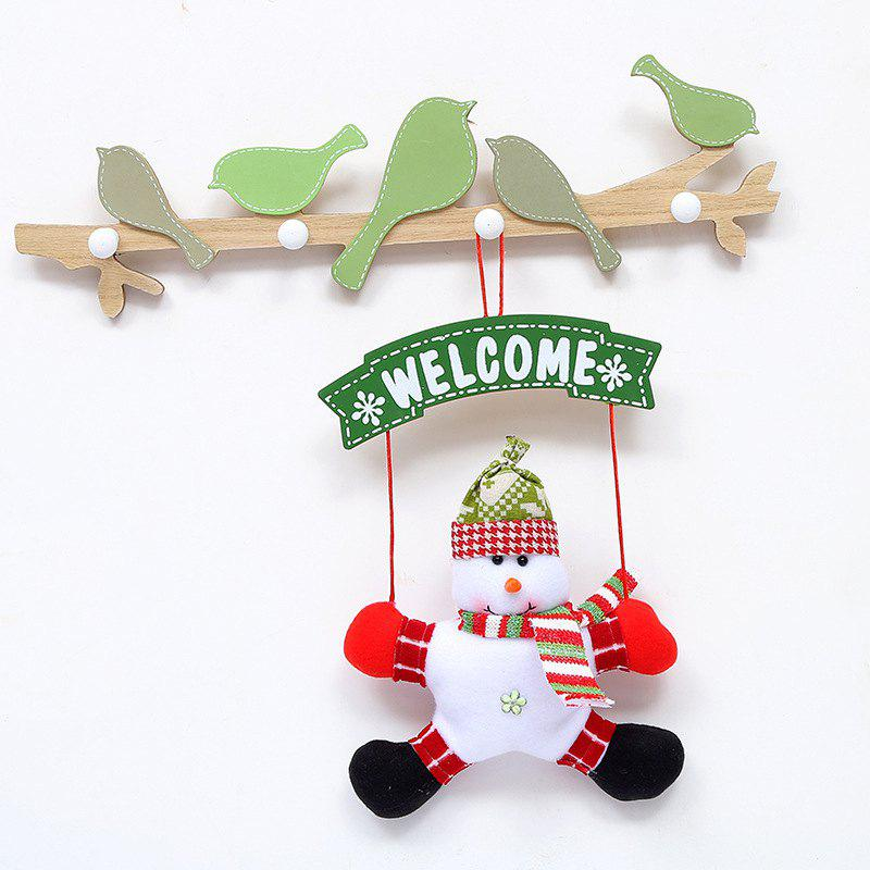 Door Decorations Hanging Christmas Santa Snowman DollHOME<br><br>Color: WHITE; Event &amp; Party Item Type: Party Decoration; Occasion: Christmas; Weight: 0.6600kg; Package Contents: 1 x Christmas Hanging Doll;