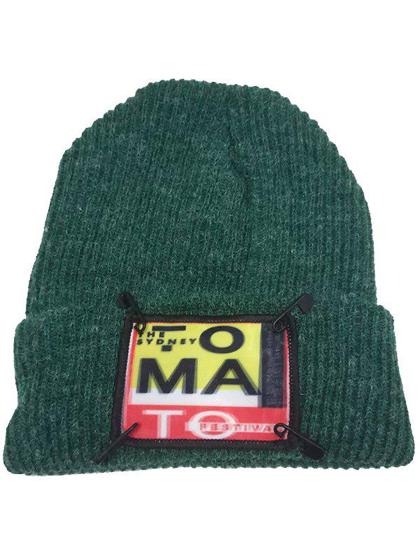 Latest Outdoor Paper Clip Embellished Flanging Beanie Hat