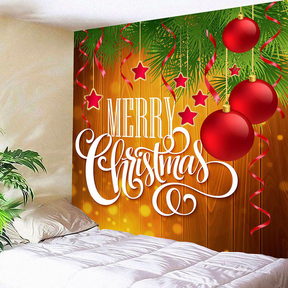 Unique Wall Art Merry Christmas Balls Print Tapestry