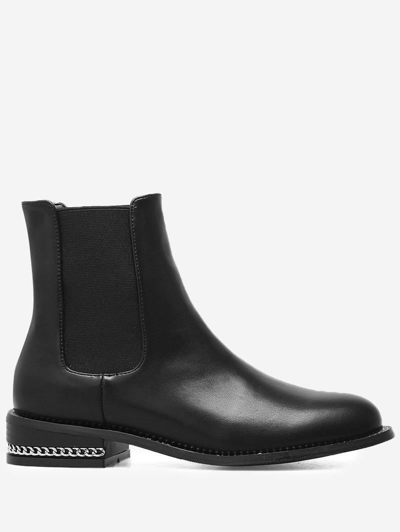 Buy Almond Toe Curb Chain Chelsea Boots