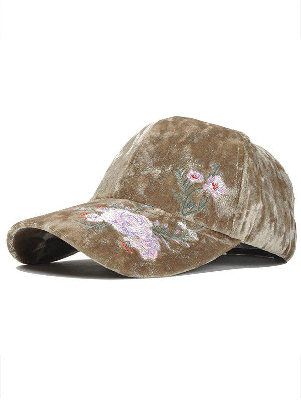 Fancy Vintage Floral Pattern Embroidery Thicken Baseball Hat