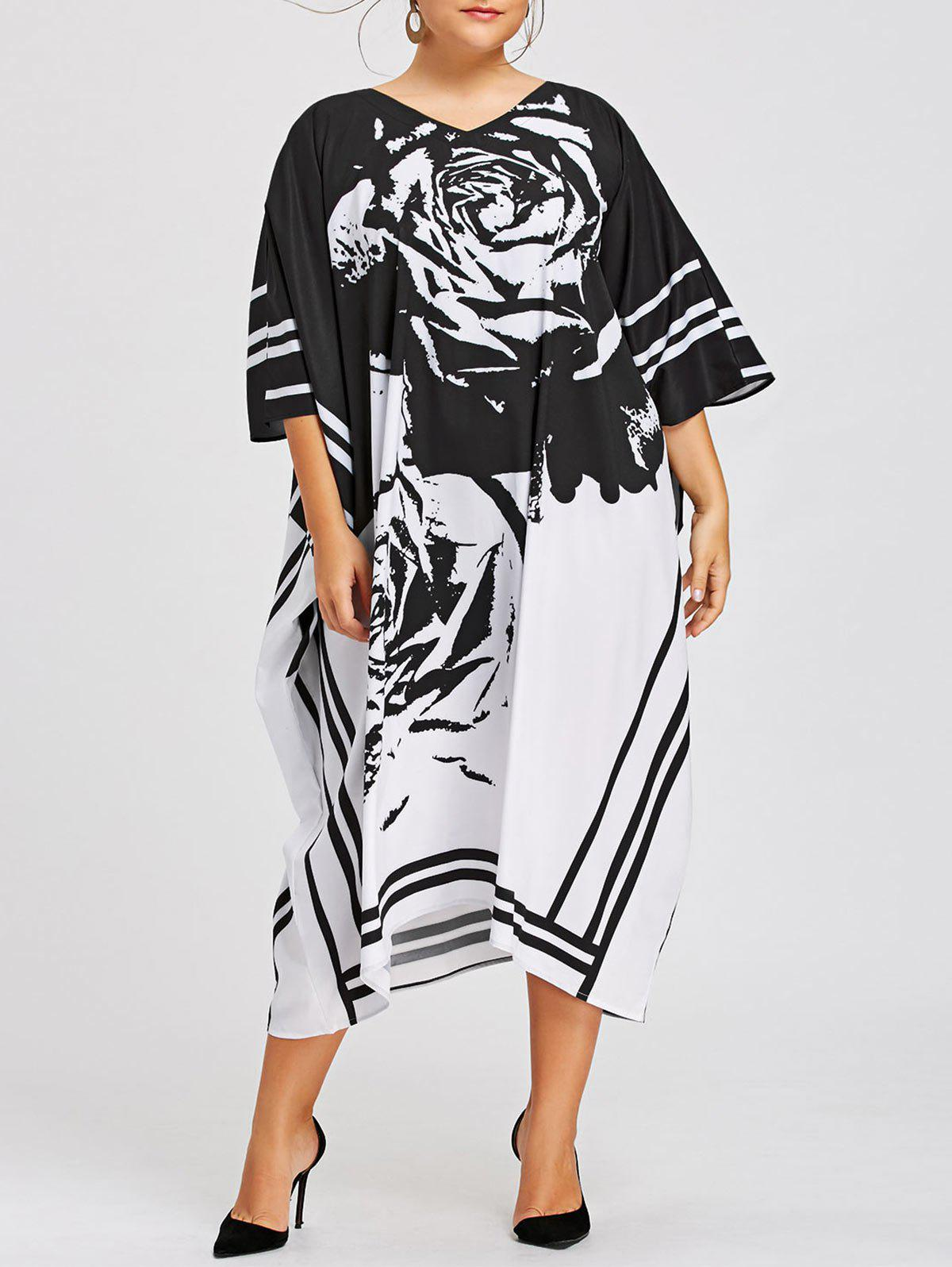 Chic Plus Size Printed Midi Dress