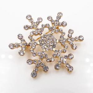 Broche de flocon de neige strass de Noël -
