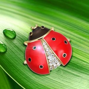 Rhinestone Insect Tiny Brooch -