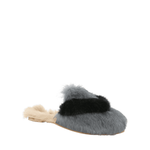Цветной блок Faux Fur Outdoor Indoor Slippers -