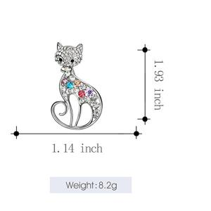 Hollow Out Rhinestone Cat Brooch -