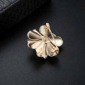 Faux Pearl Flower Brooch -