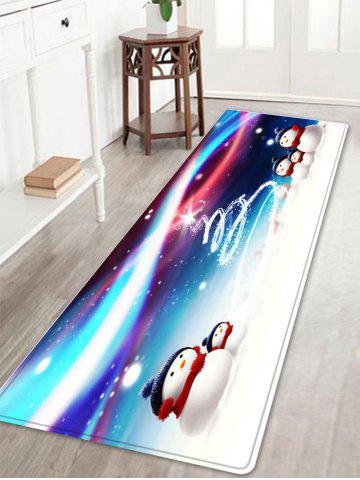 Snowy Christmas Snowmen Pattern Anti-skid Water Absorption Area Rug