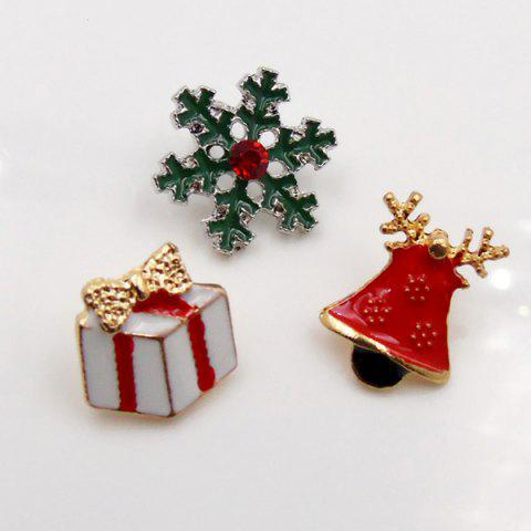 Online Christmas Bell Gift Snowflake Brooch Set