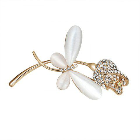 Latest Rhinestone Flower Butterfly Brooch