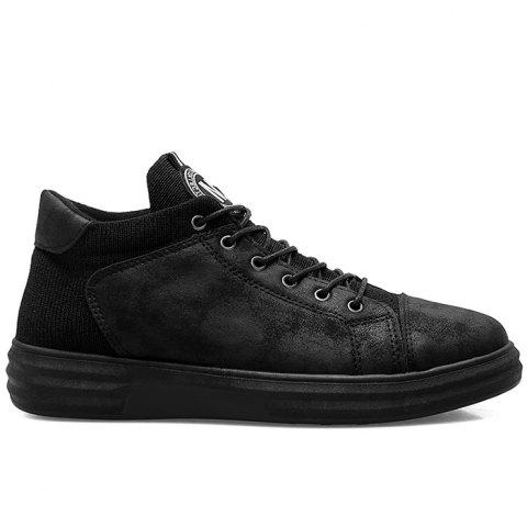Leather Patched Faux Leather Casual Shoes