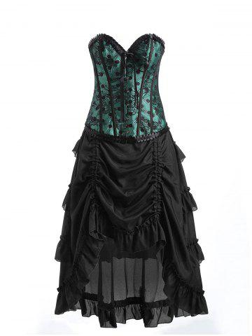 Best Underbust Lace Corset with Ruffles Skirt