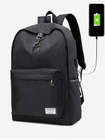 Fancy USB Charging Port Metal Ring Backpack