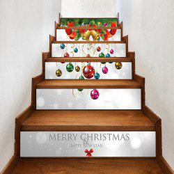 Christmas Bells Baubles Pattern Decorative Stair Stickers -