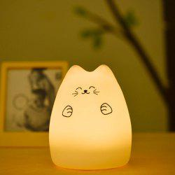 Touching Cat Cartoon USB Charging LED Ombre Night Light -