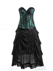Underbust Lace Corset with Ruffles Skirt -