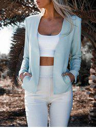 Collarless Zipper Design Sleeve Blazer -