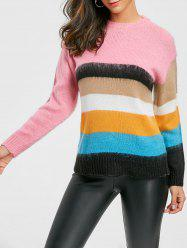Rainbow Color Crew Neck Sweater -
