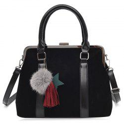 Tassel Pompom Bag Charm Handbag With Strap -