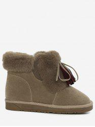 Bow Tassels Fuzzy Snow Boots -