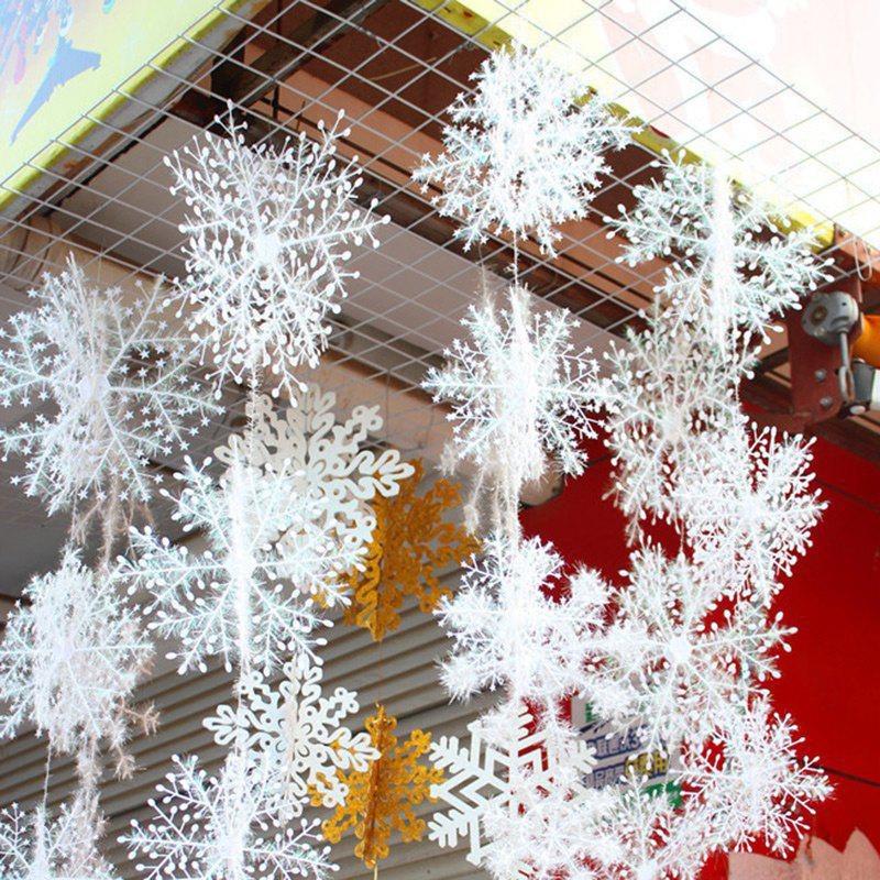 3 Pcs Christmas Hanging Decorations SnowflakesHOME<br><br>Color: WHITE; Event &amp; Party Item Type: Party Decoration; Occasion: Christmas; Material: Plastic; Weight: 0.0900kg; Package Contents: 3 x Christmas Snowflakes (Pcs);