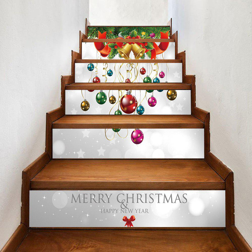 Latest Christmas Bells Baubles Pattern Decorative Stair Stickers