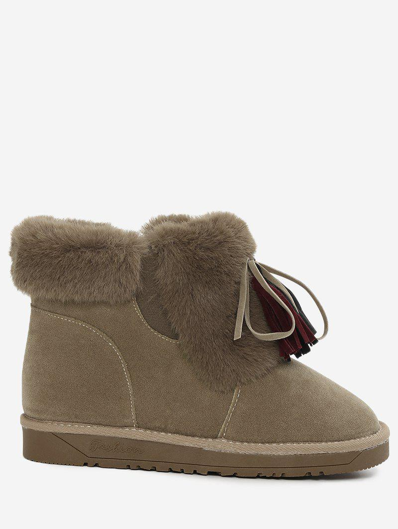 Latest Bow Tassels Fuzzy Snow Boots