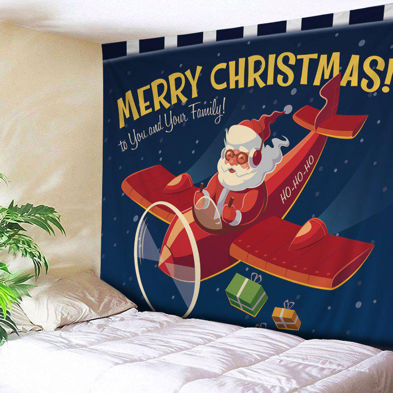 red w91 inch l71 inch christmas santa airplane print tapestry wall