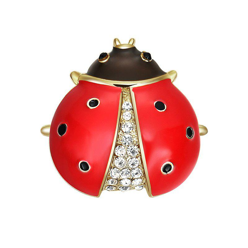Rhinestone Insect Tiny BroochJEWELRY<br><br>Color: RED; Brooch Type: Brooch; Gender: For Women; Material: Rhinestone; Style: Trendy; Shape/Pattern: Insect; Weight: 0.0300kg; Package Contents: 1 x Brooch;