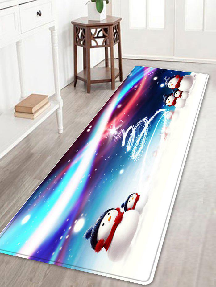 Latest Snowy Christmas Snowmen Pattern Anti-skid Water Absorption Area Rug