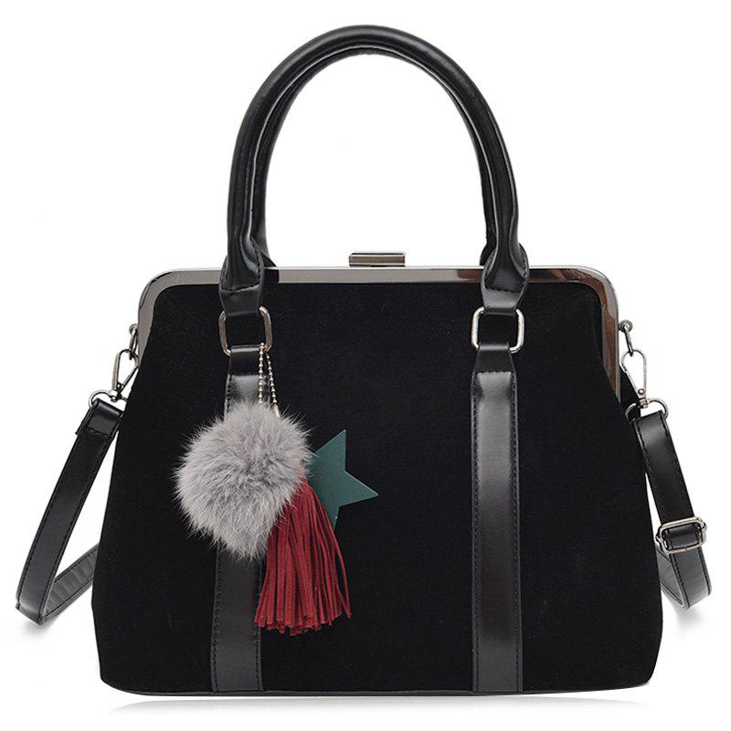 Discount Tassel Pompom Bag Charm Handbag With Strap