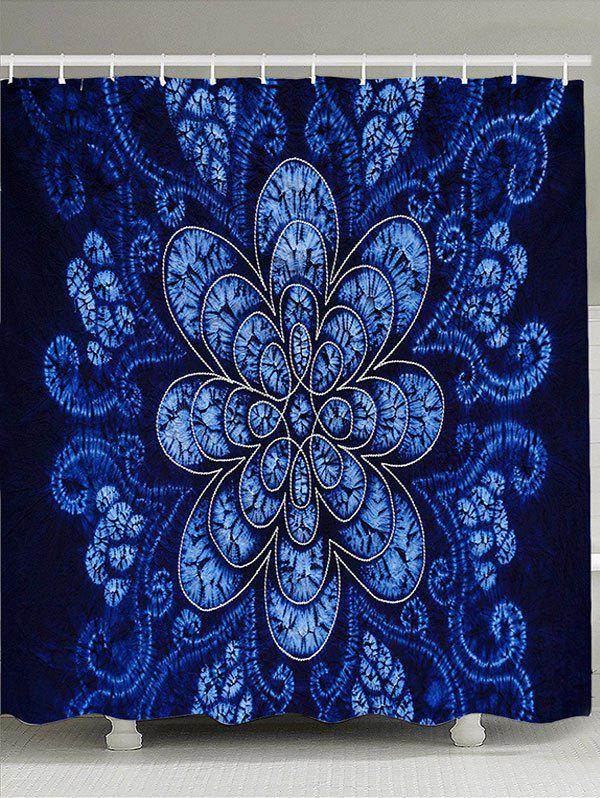 Flower Pattern Bathroom Shower CurtainHOME<br><br>Size: W71 INCH * L79 INCH; Color: BLUE; Products Type: Shower Curtains; Materials: Polyester; Pattern: Floral; Style: Natural; Number of Hook Holes: W59 inch * L71 inch:10, W71 inch * L71 inch:12, W71 inch * L79 inch:12; Package Contents: 1 x Shower Curtain 1 x Hooks (Set);