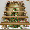Christmas Tree Woodgrain Pattern Decorative Stair Stickers -