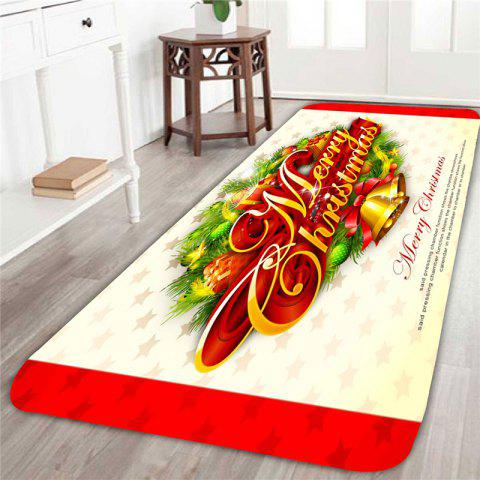Home Decor Merry Christmas Bells Pattern Area Rug