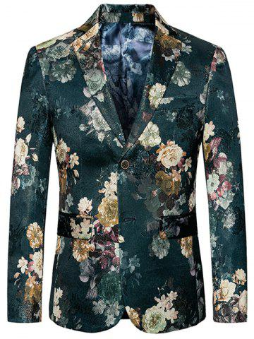 Blazer floral simple boutonnage