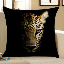 Darkness Leopard Pattern Square Pillow Case -
