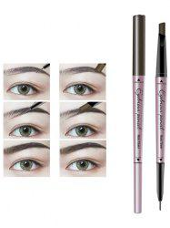 24 Hours Long Lasting Waterproof Double Headed Eyebrown Pencil -