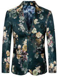 Blazer floral simple boutonnage -
