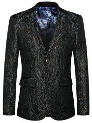Single Breasted Lapel Jacquard Blazer -