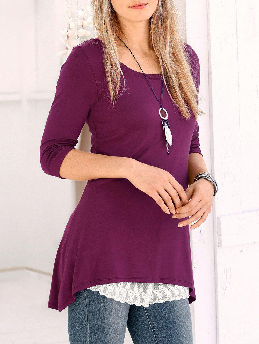 Shops Asymmetric Tunic Tee with Sleeves