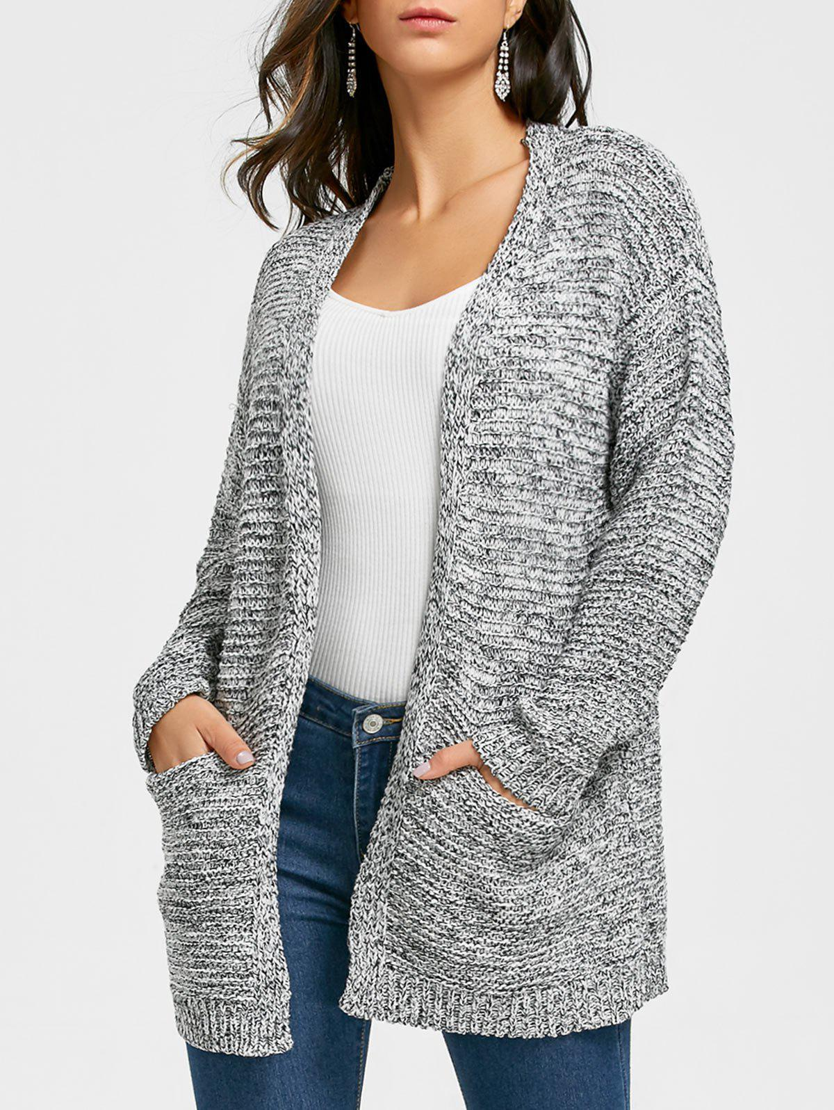 Outfits Open Front Tunic Cardigan