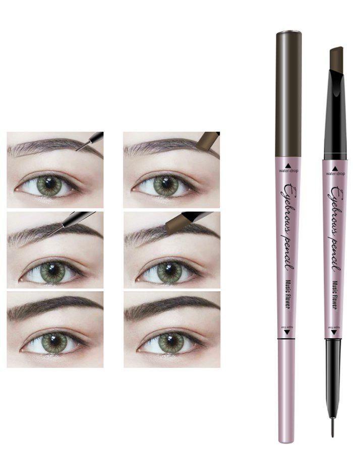 24 Hours Long Lasting Waterproof Double Headed Eyebrown PencilBEAUTY<br><br>Color: DARK COFFEE; Category: Eyebrow; Type: Other; Features: Eco-friendly,Hypoallergentic,Limits Bacteria; Season: Fall,Spring,Summer,Winter; Weight: 0.0260kg; Package Contents: 1 x Eyebrow Pencil;