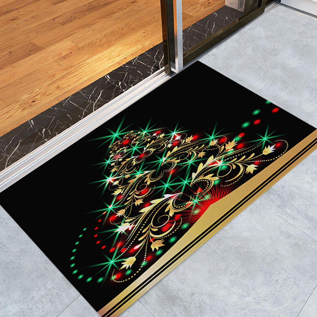 Christmas Tree Pattern Anti-skid Indoor Outdoor Area RugHOME<br><br>Size: W16 INCH * L24 INCH; Color: COLORMIX; Products Type: Bath rugs; Materials: Coral FLeece; Pattern: Christmas Tree; Style: Festival; Shape: Rectangle; Package Contents: 1 x Rug;