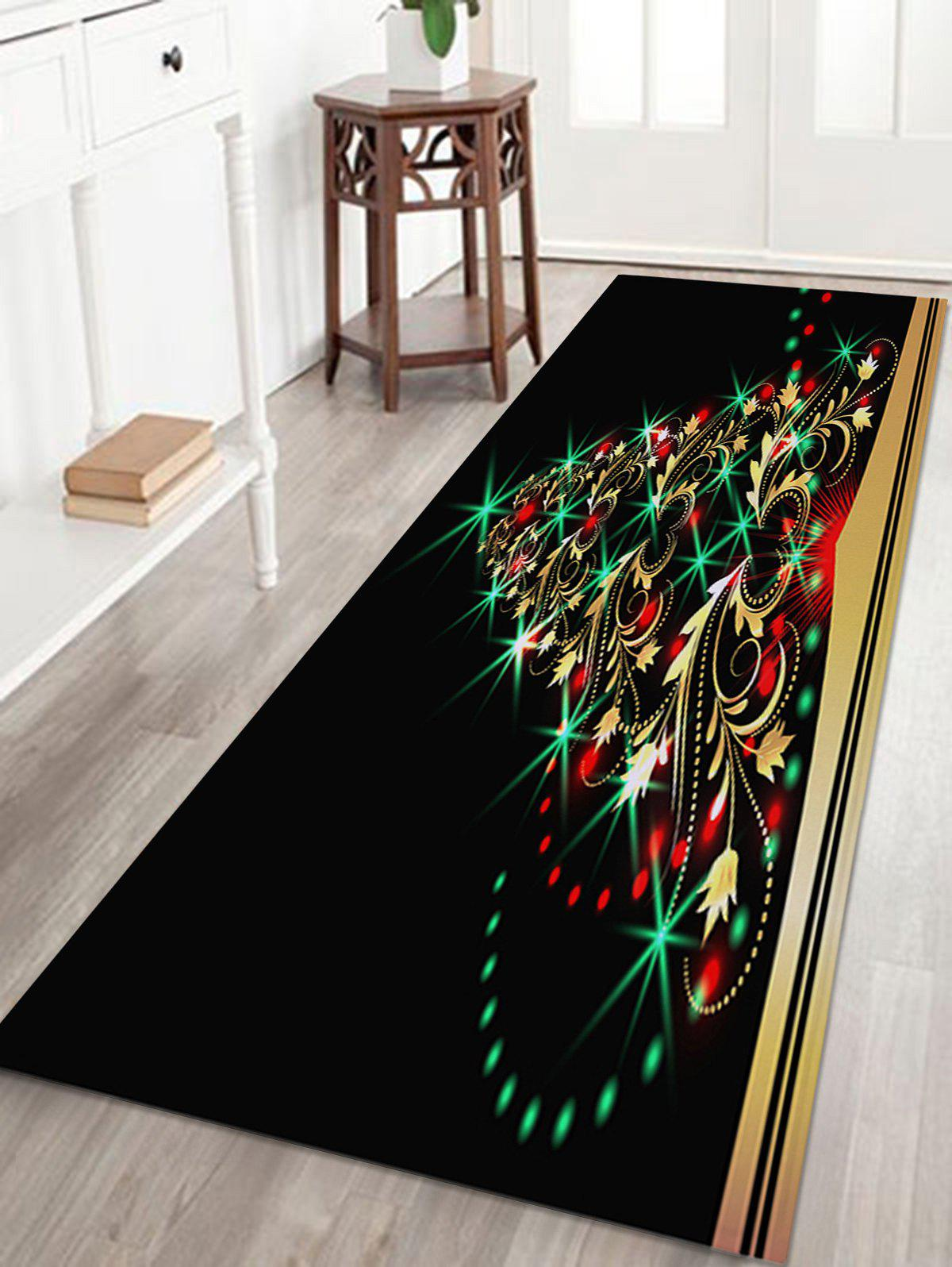 Christmas Tree Pattern Anti-skid Indoor Outdoor Area RugHOME<br><br>Size: W16 INCH * L47 INCH; Color: COLORMIX; Products Type: Bath rugs; Materials: Coral FLeece; Pattern: Christmas Tree; Style: Festival; Shape: Rectangle; Package Contents: 1 x Rug;