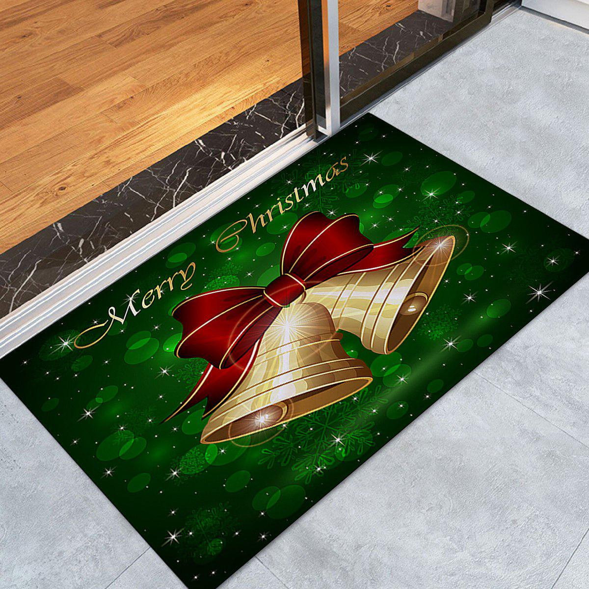 Christmas Bells Letter Pattern Anti-skid Water Absorption Area RugHOME<br><br>Size: W24 INCH * L35.5 INCH; Color: COLORMIX; Products Type: Bath rugs; Materials: Coral FLeece; Pattern: Bowknot; Style: Festival; Shape: Rectangle; Package Contents: 1 x Rug;